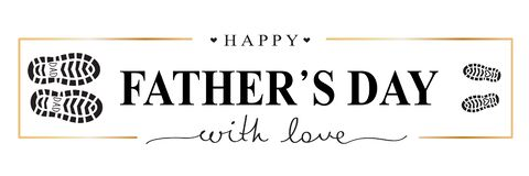 Free Happy Father`s Day With Love Festive Card. Stock Image - 220166641