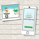 Happy father's day  on the wood background Stock Image