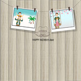 Happy father's day  on the wood background Royalty Free Stock Photo