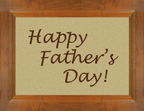 Happy Father's day wooden frame window with text Stock Images