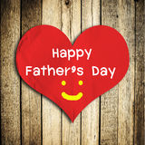Happy Father's day word on red heart Royalty Free Stock Photos