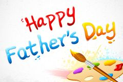 Happy Father's Day written with paint brush Royalty Free Stock Photo