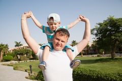 Happy father and son Royalty Free Stock Images