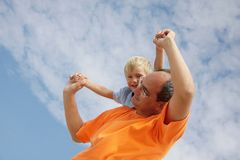 Happy father and son Stock Image