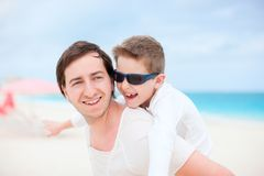 Happy father and son Royalty Free Stock Image