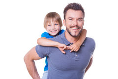 Happy father and son. Stock Image