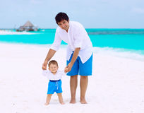 Happy father with son Royalty Free Stock Images