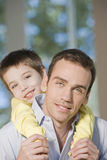 Happy father and son portrait Stock Images