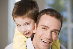 Happy father and son portrait Stock Image