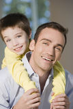 Happy father and son portrait Royalty Free Stock Photos
