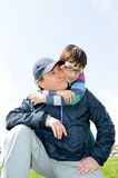 Happy father and son Royalty Free Stock Photo