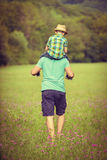 Happy father and son time concept Royalty Free Stock Images