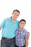 Happy father and son together Stock Image