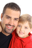 Happy father and son vertical Stock Photos