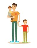 Happy father and sons Royalty Free Stock Images