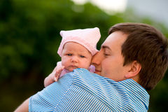 Happy fatherhood Stock Images
