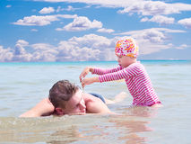 Happy fatherhood Royalty Free Stock Photos