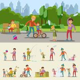 Happy Fatherhood Concept Stock Images