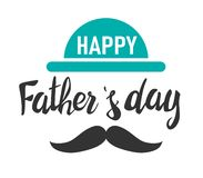 Happy fathers day. Lettering. Template for greeting card, Banner, flyer, invitation, congratulation, poster design. Vector illustr. Happy fathers day. Lettering vector illustration