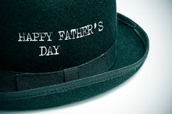 Happy fathers day. Written in a bowler hat stock photo
