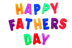 Happy Fathers Day. Spelled with colorful magnetic letters royalty free stock photo