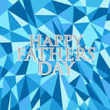 Happy fathers day abstract blue background Stock Photos