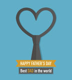 Happy Fathers Day. Abstract Design Royalty Free Stock Images
