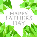 Happy fathers day abstract green background Stock Photo