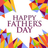 Happy fathers day abstract sign background Royalty Free Stock Photo