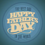 Happy Fathers Day Background. Stock Photo