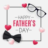 Happy Fathers Day Background. Best Dad Vector Illustration Royalty Free Stock Photo