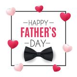 Happy Fathers Day Background. Best Dad Vector Illustration Royalty Free Stock Photos