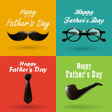 Happy fathers day background collection Stock Photos