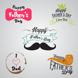 Happy fathers day background collection Royalty Free Stock Photos