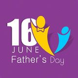 Happy Fathers Day background. Royalty Free Stock Image
