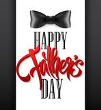 Happy fathers day background with greeting lettering and bow tie. Vector illustration. EPS10 Stock Photo