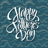 Happy fathers day background with greeting lettering  Royalty Free Stock Images