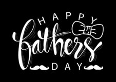 Happy fathers day background. Greeting card stock illustration