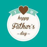 Happy fathers day background Royalty Free Stock Photography