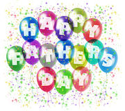 Happy fathers day balloons Royalty Free Stock Images