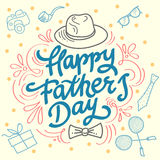 Happy fathers day best dad. royalty free illustration