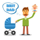 Happy fathers day. Best dad. Vector Royalty Free Stock Photo
