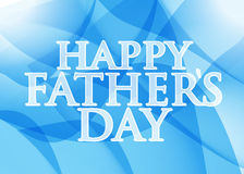 Happy fathers day. blue abstract background. Illustration design graphic Stock Image