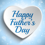 Happy Fathers Day Blue Heart Background Royalty Free Stock Photography