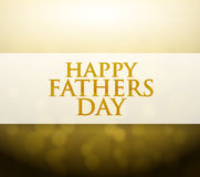 Happy Fathers Day bokeh light sign Royalty Free Stock Photo