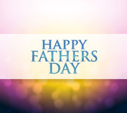 Happy Fathers Day bokeh light sign Stock Photos