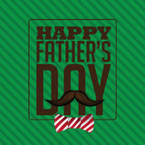 Happy Fathers Day bow tie design EPS 10 vector Stock Photography