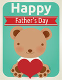 Happy fathers day card Stock Photo