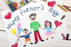 Happy fathers day card royalty free stock photography