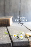 Happy Fathers Day card. stock image